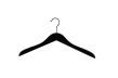 Blushängare 806 43cm,100 st - Matt svart, svart krok och nonslip, 100st