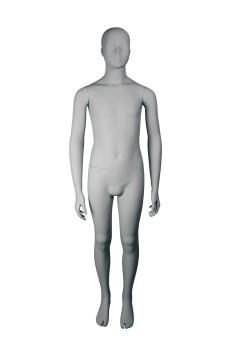 Skyltdocka junior CARLO49, matt ljusgrå1 st - Matt ljusgrå, 1 st