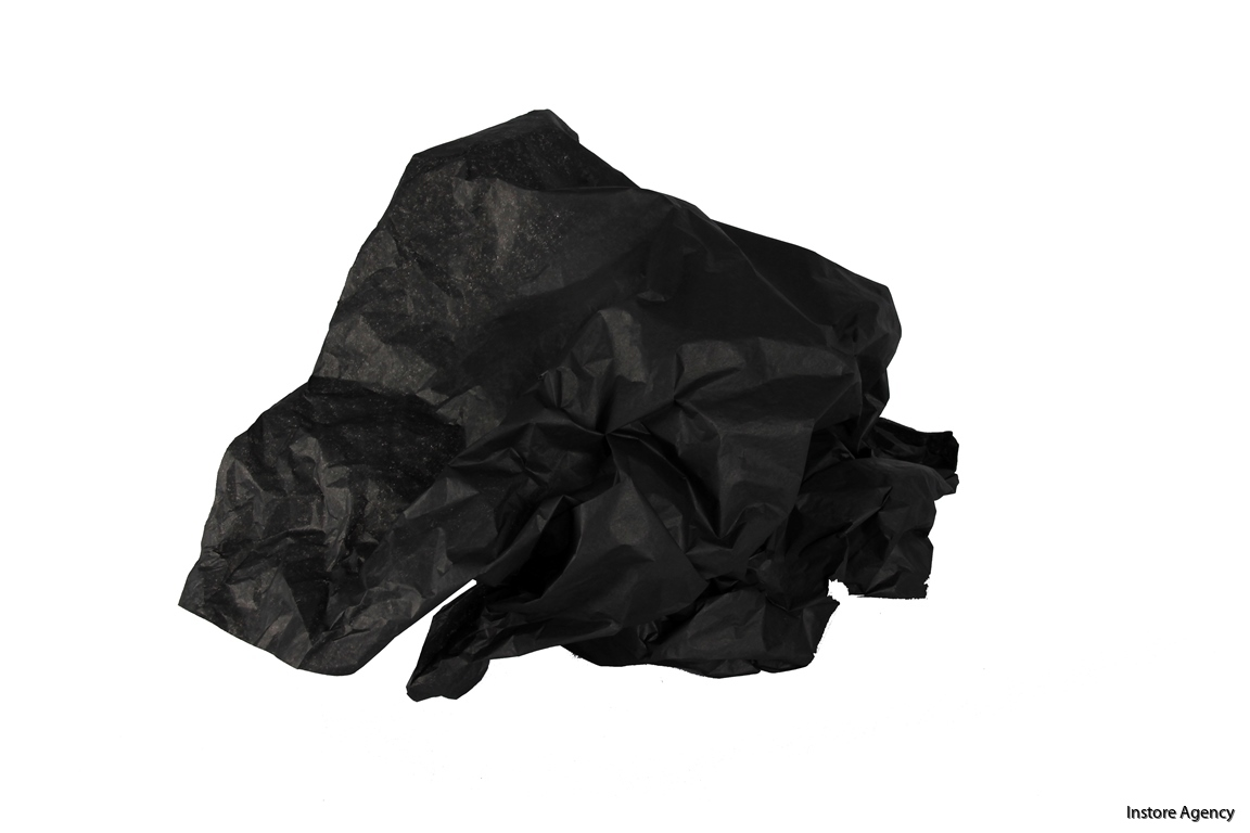 PA-SILK5201 svart skrynklig