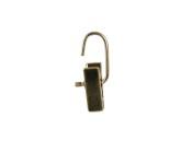Vridbar clip 611 4 cm, guld, 100st