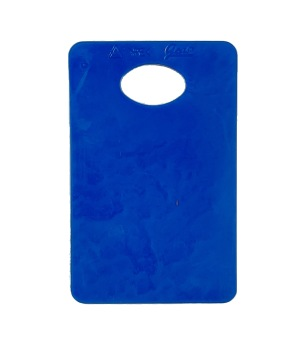 Garderobsbricka onumrerad 100st - Blå, 100st
