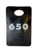 Garderobsbricka numrerad - Svart med vitt tryck - Välj nummerserie jämna 50-tal skriv i kommentar till butiken