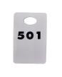 Garderobsbricka numrerad - Vit med svart tryck - Välj nummerserie jämna 50-tal skriv i kommentar till butiken