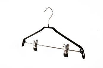 Blushängare med stång och clips 653 42 cm, 10 st - Svart