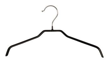 Gummerad metallhängare 309, 36 cm, svart, 10 st - Svart