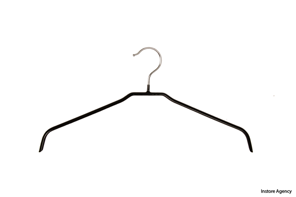 Blushängare metall nonslip 42cm svart