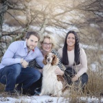 Henrik, mamma Gabriella, Rebecka & hunden Thea