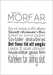 Regler hos Morfar
