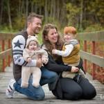 Niklas, Emma, Amon 2 år & Aron 7 mån