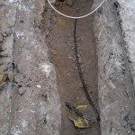 2012-12-11-453 Här blev vår kabel till vägbelysningen avgrävd.