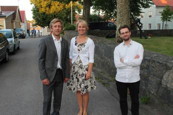 Glada miner efter konserten i Öregrund