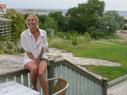 Tina Nordström på Smögen.