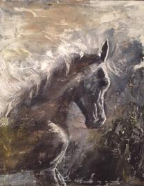 Önskar du ett porträtt av din egen häst? Jag målar hästtavlor och hästporträtt på beställning. Konstnär Marianne Heiling i Halmstad