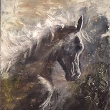 min alskade Hest i akryl 70x56