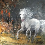 Vit häst, G