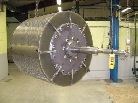 Renoverad trumma till industritvättmaskin