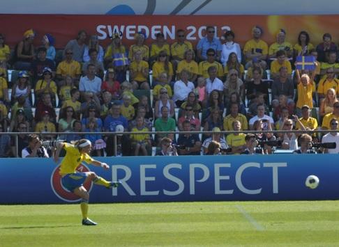 Respektingivande fotbollsspel på Örjans Vall Halmstad 2013