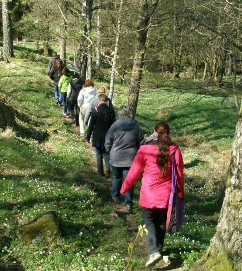 Natur och kulturvandring i natursköna Halland