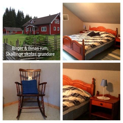 Birger & Binas rum. Skön 180 säng i körsbärsträ.