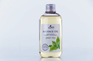 Kanu Nature Massageolja Grönt Te 200ml - Kanu Nature Massageolja Grönt Te 200ml
