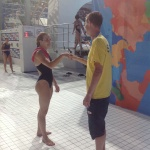 Coach Falkman och Nero laddar inför tävling