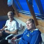 Den svenska hejarklacken i form av Jesper och Ida är redo
