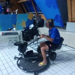 Coach Ulrika Knape Lindberg testar ny utrustning