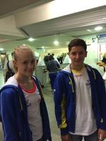 Emma, här tillsammans med Simon Dimopoulos under EJM 2015.