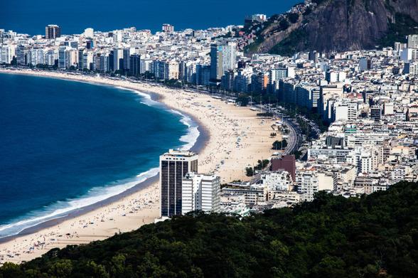 Staden Rio med Copacabana - beachen mitt i stan.