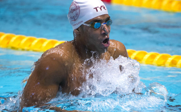Simon Sjödin slog ett 24 år gammalt mästerskasprekord på 400m medley