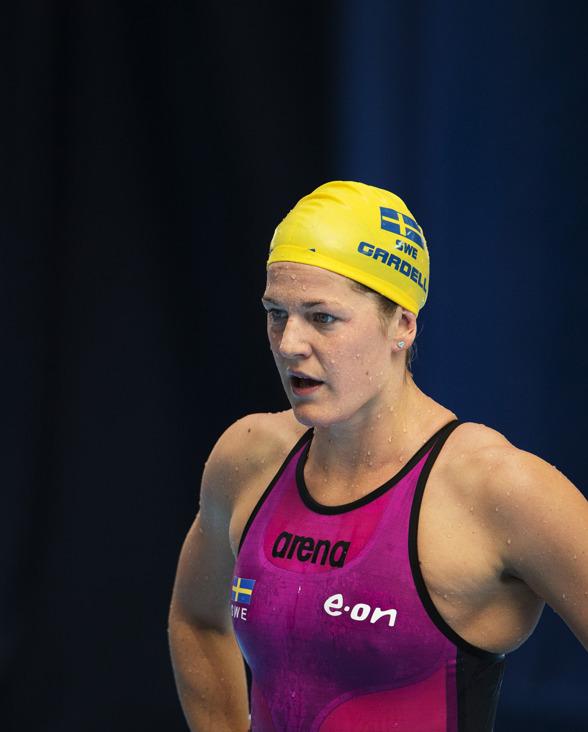 Det gick inget vidare för Stina Gardell på 400m medley idag - 10 sek över personliga rekordet.