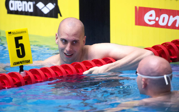 Petter Stymne vann 50m fritt före Stefan Nystrand