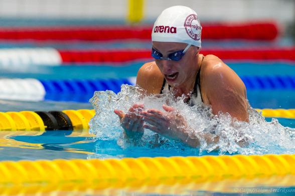 Jennie Johansson tog en klar seger på 50m bröstsim