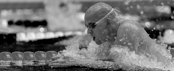 Stefan Nystrand skall simma final idag på 50m fritt. Här en bild på honom från gårdagens 50m bröstsim. Håkan Fredriksson tog bilden.