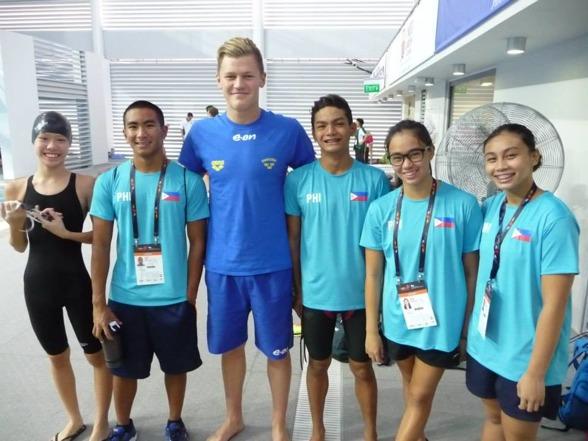 Daniel Forndal vinner i längden mot Filipinernas landslag
