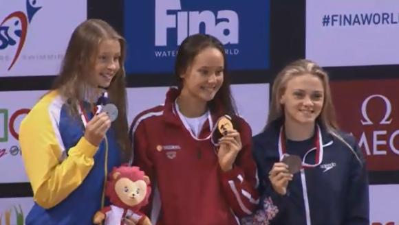 Silver på 50m bröstsim innebar Sverige andra JVM-medalj genom tiderna