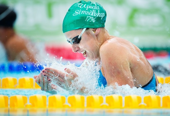 Jennie Johansson slog tävlingarnas första svenska rekord