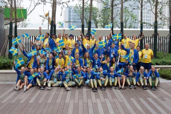 Hela den svenska truppen i Nanjing - alla idrotter.