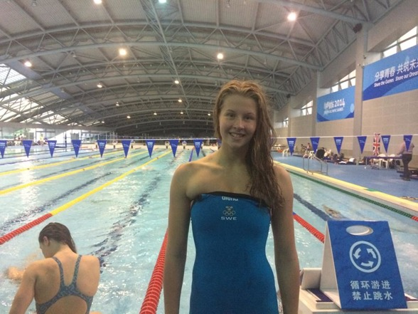 Personligt rekord och en femte plats på 50m bnröstsim idag - för Sophie Hansson
