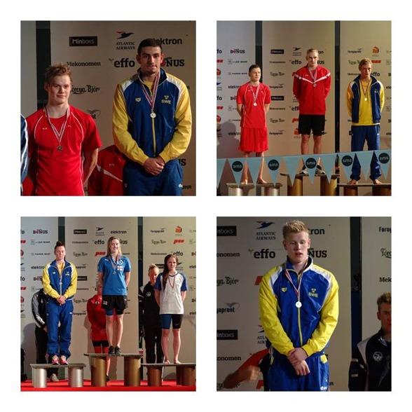 Svenska medaljörer från fredagen