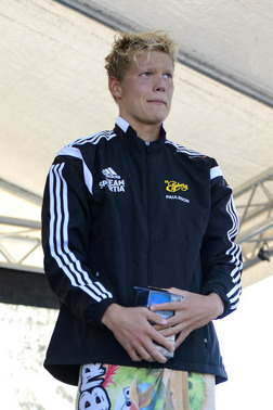 Adam Paulsson - hemmasegrare under SM i Borås. Vann 1500m fritt första dagen.