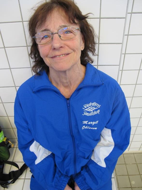 Margit Ohlsson slog världsrekord på 50m ryggsim idag med 37,50