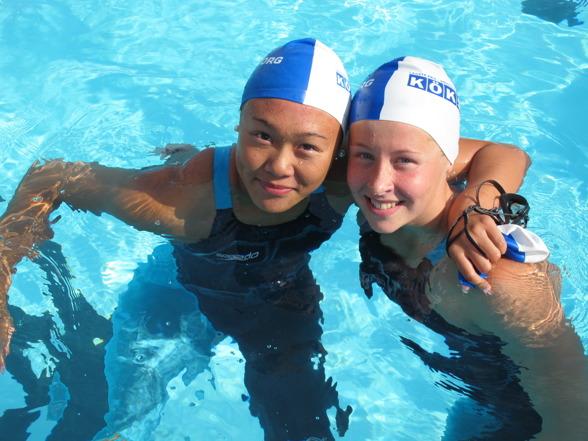 Marie Louise Tran och Sophie Hansson dubbelseger för Helsingborg på 100m bröstsim