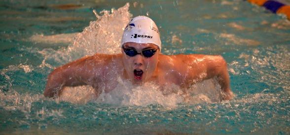 Jesper Jonsson simmade bra i finalen på 200m fjärilsim idag.