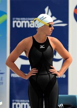 Federicia Pellegrini Italien har varit på bild i många rapporter på Mästerskapssidan