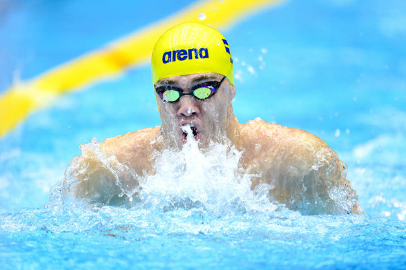 Johannes Skagius slog svenskt juniorrekord på 50m bröstsim