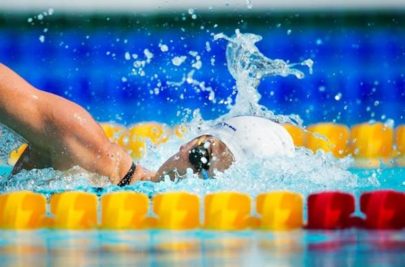 Andra mästerskapsrekordet för dagen av Stina Gardell på 200m medley.