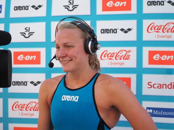 Sarah Sjöström gjorde världens tredje bästa tid på 50m fritt under 2015 genom sin seger i kvällens final