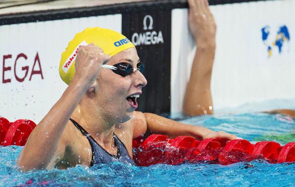 Jennie Johansson var nöjd efter sjätte platsen på 100m bröstsim i semin