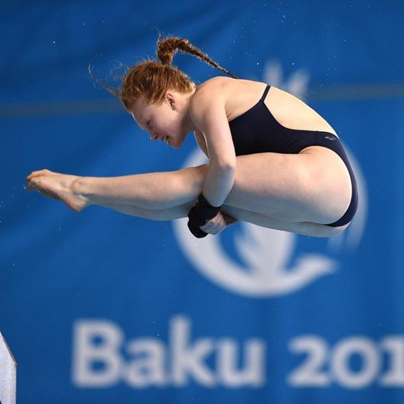 Ellen Ek under försöken i höga hopp, prestationen i försöken gav henne en finalplats